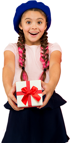 True Present - Girl with Gift